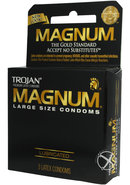 Trojan Condom Magnum Large Size Lubricated 3 Pack