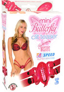 Mini Butterfly Clit Teaser 4 Speed Waterproof Pink