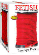 Fetish Fantasy Series Bondage Rope 200 Feet Red