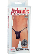 Adonis Mesh Pouch With C-ring Black Medium/large