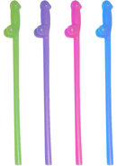Glowing Naughty Straws - Assorted Colors (8 Per Pack)