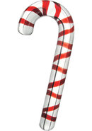 Prisms Xxxmas Glass Candy Cane Dildo
