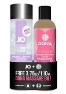Jo And Dona Prepacked Gift Set Lubricant Massage Oil