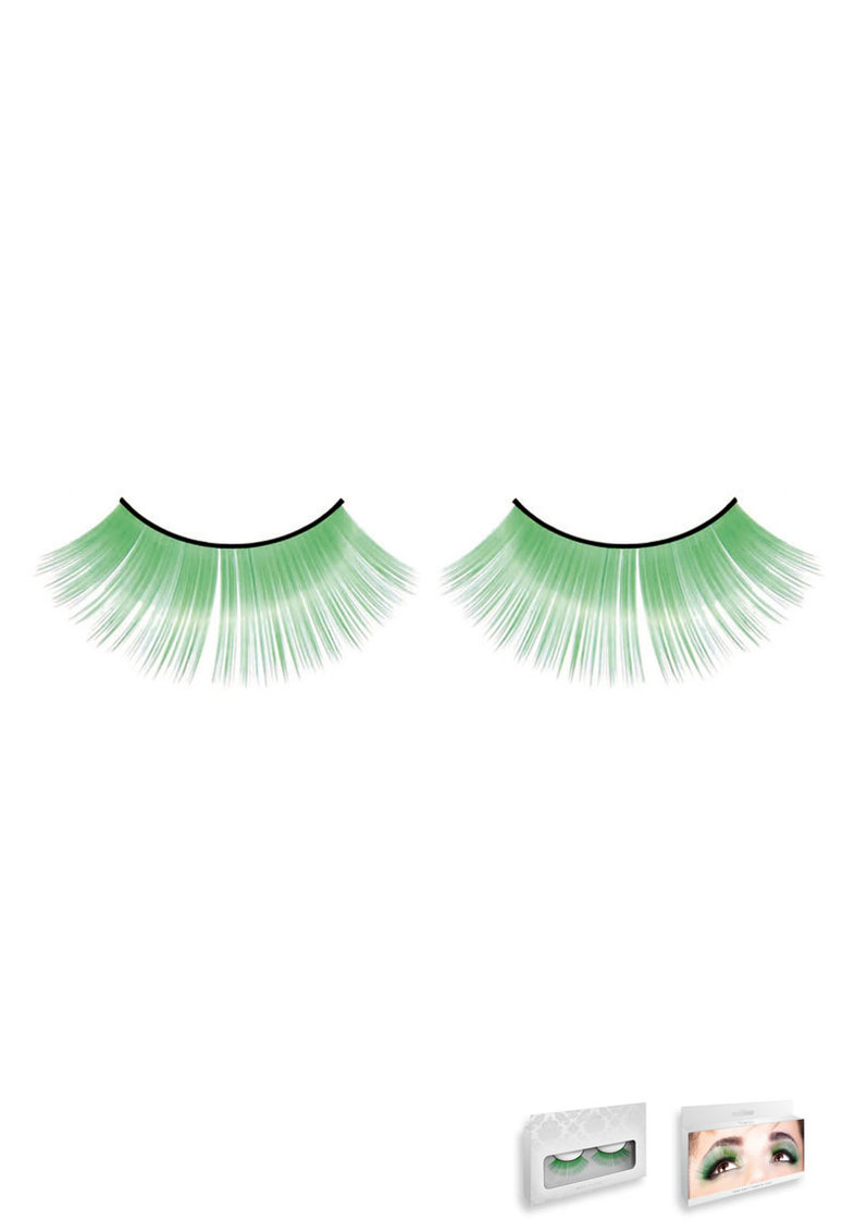 Light Green Glitter Eyelashes