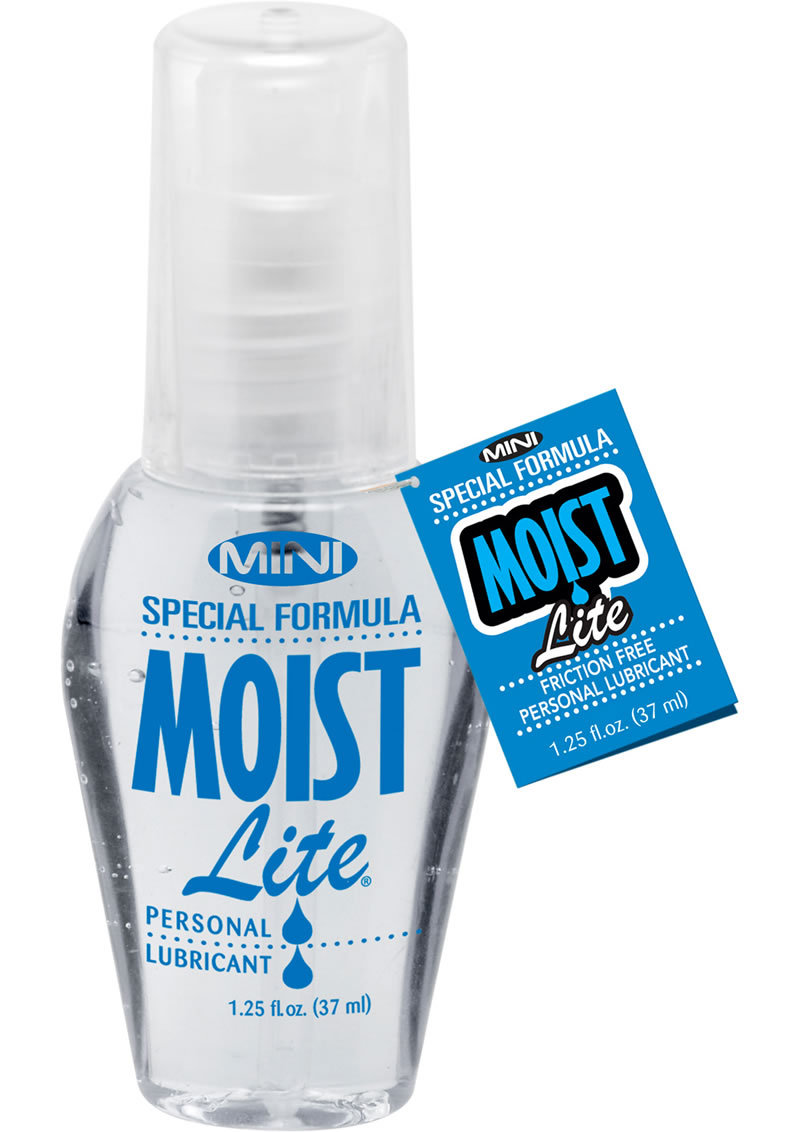 Mini Moist Lite Water Based Personal Lubricant 1.25 Ounce