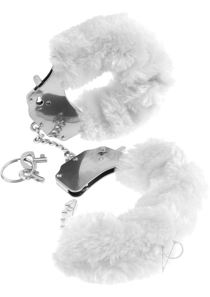 Fetish Fantasy Series Furry Cuffs White