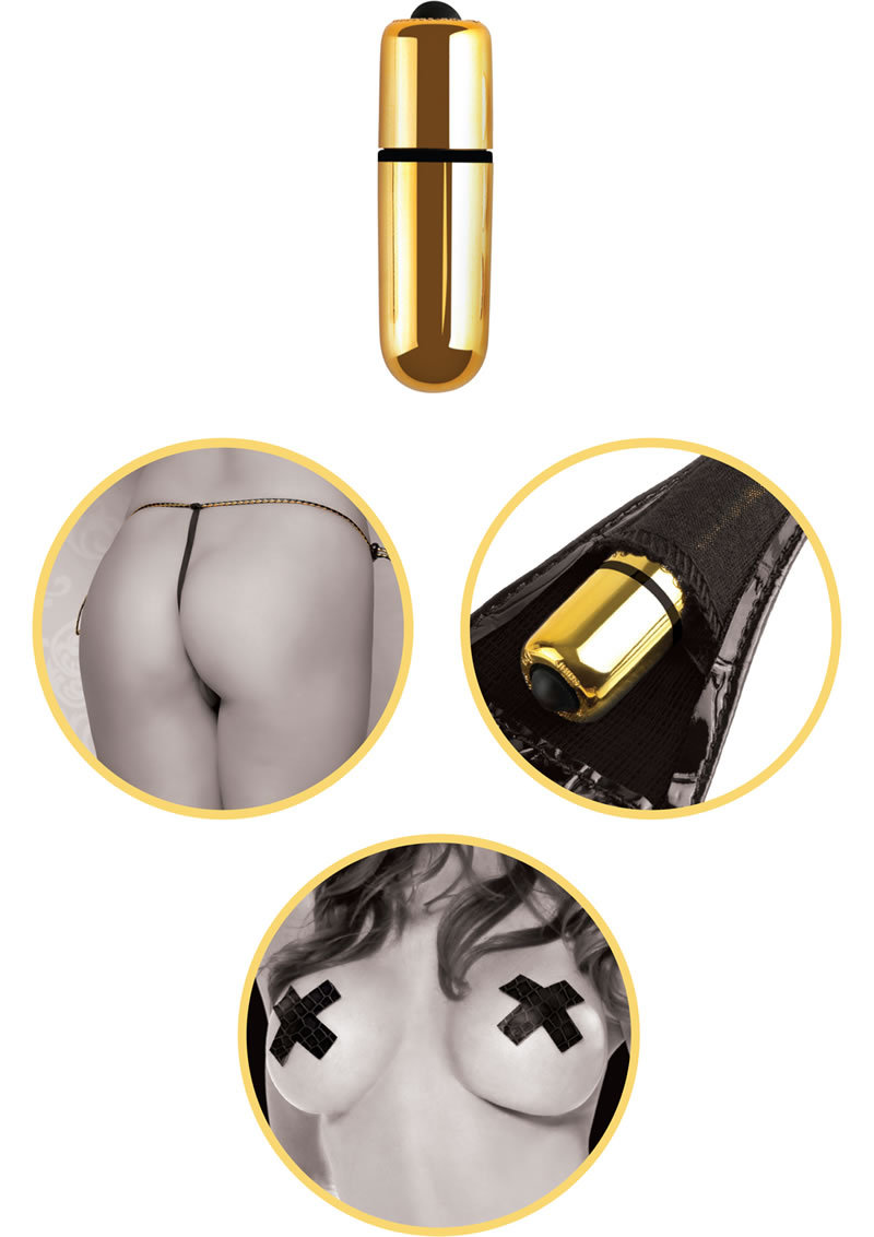 Fetish Fantasy Gold First Time Vibrating Strap-on Set Black/gold