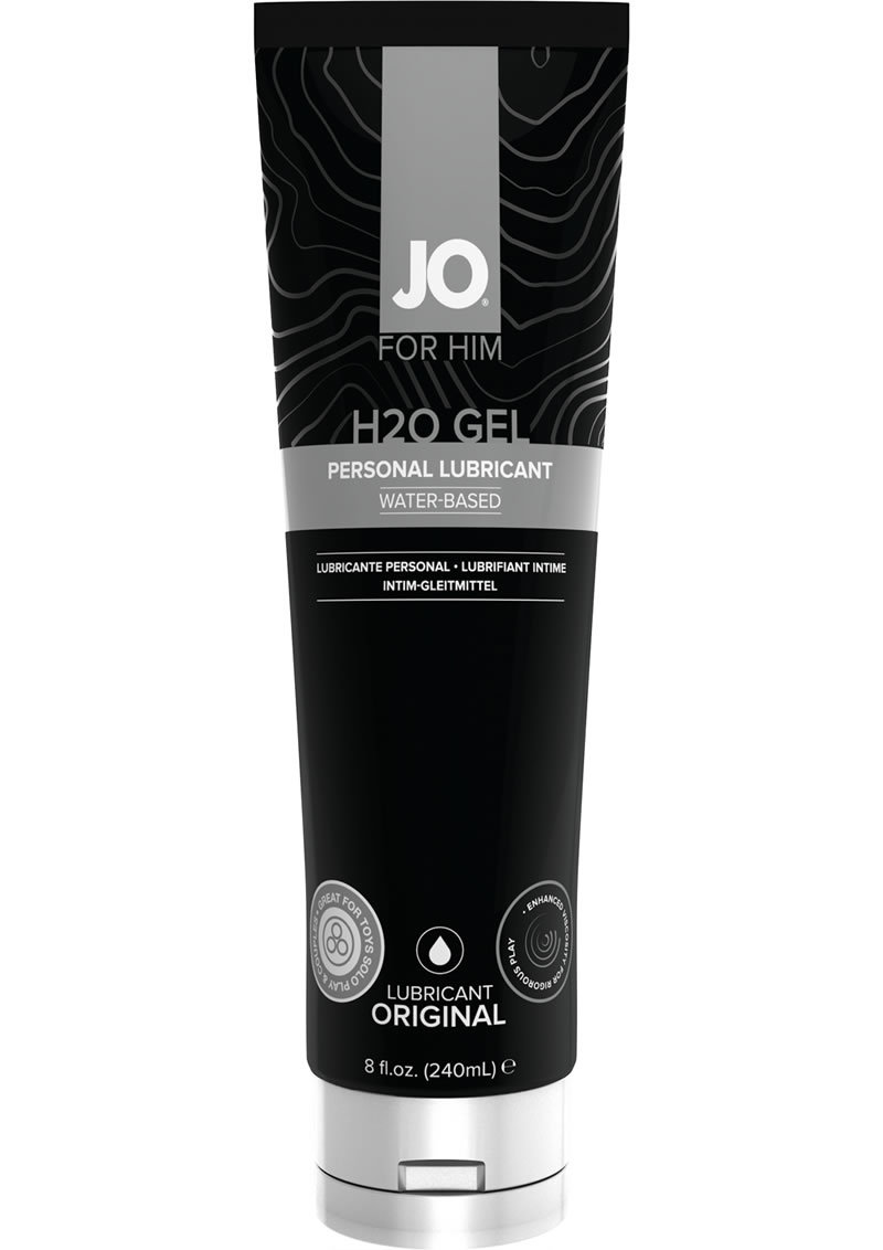 Jo For Him H2o Gel Personal Lubricant Water Based Original 8 Ounce Tube.