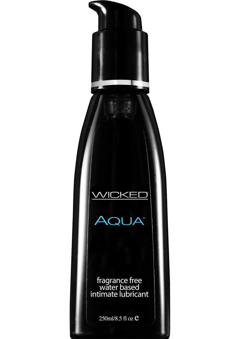 Wicked Aqua Vegan Free Peta Certified Water Based Lube Unscented 8.5 Oz