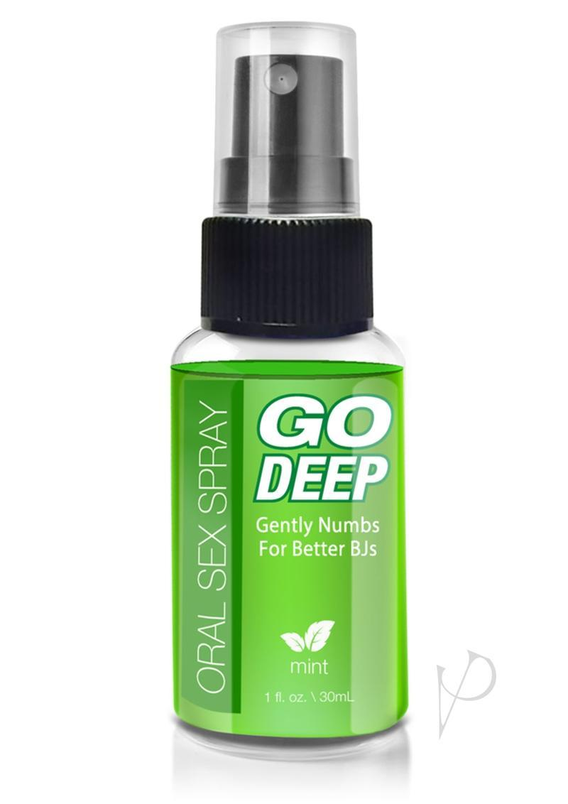 Go Deep Oral Sex Spray Mint 1 Ounce