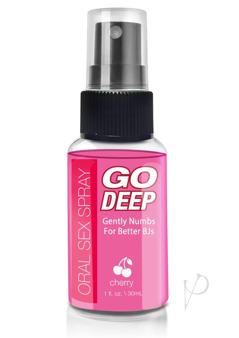 Go Deep Oral Sex Spray Cherry 1 Ounce