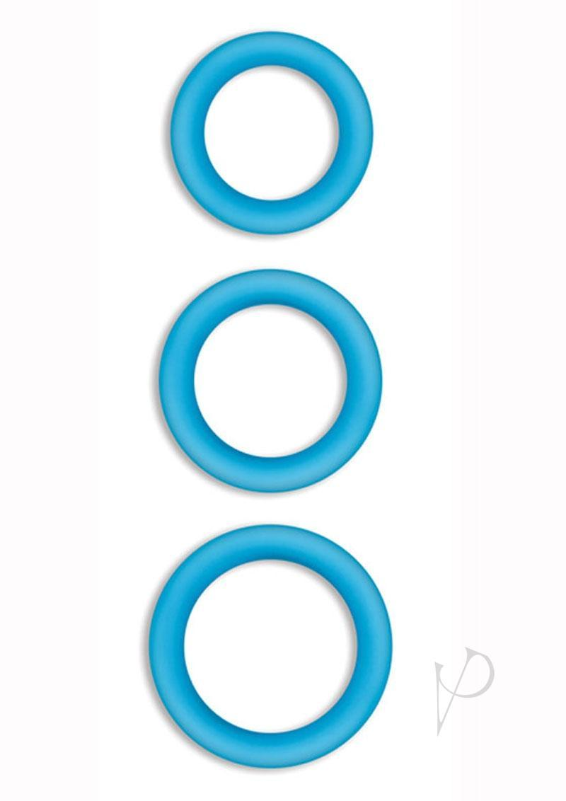 Firefly Halo Silicone Cock Ring Blue Medium