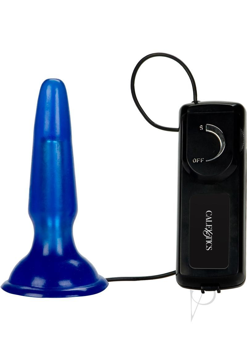 Tush Teaser Vibrating Jelly Butt Plug Blue